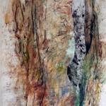 Creux no.1—2009—Acrylique, encre, collage et pastel gras sur toile—130 x 98 cm