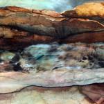 Creux no. 16—2010—Acrylique et encre sur papier marouflé sur toile—23 x 30 cm