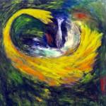 Vague matrice—1992—Acrylique sur toile—91,5 x 95 cm