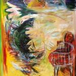 Tempête no.3—2014—Acrylique et pastel gras sur toile—155 x 124 cm