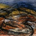 Pointe St-Pierre—1997—Acrylique et fusain sur papier—56 x 75,7 cm