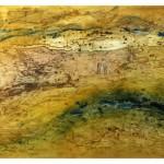 Le murmure d'un lieu—2009—Collagraphie et linogravure—65 x 100 cm
