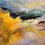 Falaises no.1—2015—Acrylique et pastel gras sur toile—95 x 125 cm