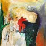 Tête de rocher—2013—Acrylique et pastel gras sur toile—88 x 71 cm