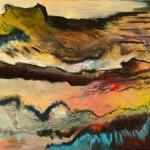 Creux no. 36—Acrylique et pastel sur toile—61 x 92 cm