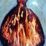 Eau de vie—1994—Acrylique et collage sur bois—41 x 26 cm