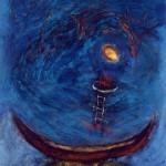 Ronde nocturne, 1991—Acrylique sur papier—74 x 56 cm