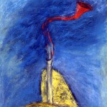 La voix du rocher, 1991—Acrylique sur papier—74 x 56 cm