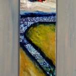 Élévation—1994—Acrylique et collage sur bois—41 x 14 cm