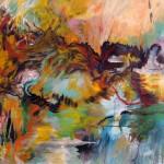 Montagnes no.1—2010—Acrylique et pastel gras sur toile—76 x 118 cm