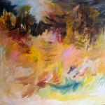 Montagnes no.2—2010—Acrylique et pastel gras sur toile—76 x 115 cm