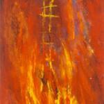 Souffle au cœur de l'abîme—1992—Acrylique sur toile—115 x 34,5 cm