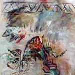 Pont de Barachois no.3—2013—Acrylique et pastel gras sur toile—136 x 106 cm