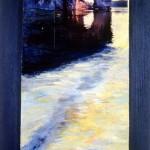 Errance—1994—Acrylique et collage sur bois—64,5 x 29 cm