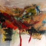 De passage #23—2009—Acrylique sur toile—60 x 60 cm