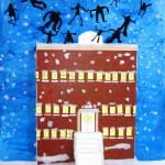 Murale école—Projet Culture à l'école—Élèves de 1-2e année—École St-Jean-Baptiste-de-la-Salle, Montréal