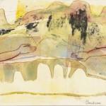 Là haut, il y a … no.36, 2007—Série variée—Monotype, collagraphie, carborundum et crayon —25,5 x 25,5 cm