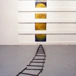 En voie de devenir no.1—Installation —Centre d'artistes Regart, Lévis—1993—120 x 30,5 x 210 cm