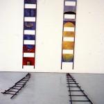 En voie de devenir no.1 et 2—Installation —Centre d'artistes Regart, Lévis—1993—120 x 30,5 x 210 cm