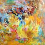 Repos—2006—Acrylique et pastel sur toile—122 x 122 cm