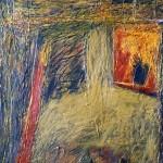 Hutte—1988—Médium mixte sur papier—63 x 41 cm