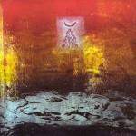 Là haut, il y a … #4—2007—Série rouge—Monotype et linogravure —25,5 x 25,5 cm