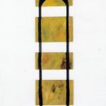 En voie de devenir no.3—1993—Acrylique sur bois—120 x 30,5 cm
