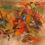 Embarque-moi—2005—Acrylique et pastel sur toile—90 x 122 cm