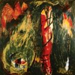 Territoire protégé—1988—Médium mixte sur toile—182 x 182 cm