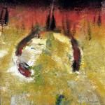 Là haut, il y a … #10—2007—Série indienne—Monotype —25,5 x 25,5 cm