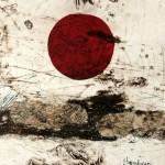 Paysage no.4—2013—Collagraphie et chine collé—15 x 15 cm
