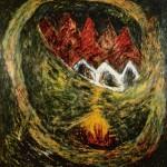Accalmie—1988—Médium mixte sur toile—182 x 182 cm