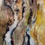 Creux no.2—2009—Acrylique et pastel gras sur toile—99 x 166 cm
