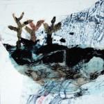 Quelque part no.2—2013—Collagraphie et chine collé—15 x 15 cm