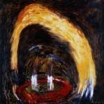 Refuge—1988—Médium mixte sur toile—90 x 90 cm