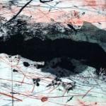 Quelque part no.5—2013—Collagraphie et chine collé—15 x 15 cm