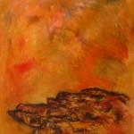 Sous un ciel jaune—Acrylique sur toile