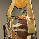 Corps/paysage no.1 (détail)—2012—Collagraphie, carborundum, monotype et chine collé et collage sur papier —144 x 36 cm