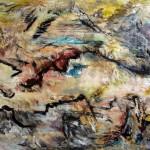 Montagnes no.3—2009—Acrylique et pastel gras sur toile—132 x 164 cm