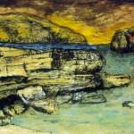 Baie des marigots—1997—Acrylique, encre, fusain sur papier—32 x 66 cm