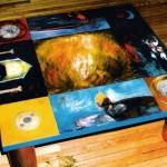 Puits terrestre—1995—122 x 122 x 41 cm