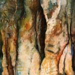 Creux initial—2010—Acrylique et pastel sur toile—92 x 61 cm