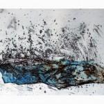 .—Passer—2013—Collagraphie, acrylique, crayon et chine collé—65 x 100 cm