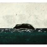 Entre ciel et mer no. 6—2012 —Collagraphie, pointe sèche et chine collé sur papier—56 x 76 cm