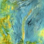 La montagne qui bruit—1990 —Acrylique sur toile—183 x 118 cm