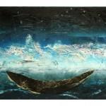 Entre ciel et mer no.17—2012—Collagraphie, pointe sèche et chine collé sur papier—56 x 76 cm—Vendu à la Ville de Longueuil pour Gala de la culture (mai 2015)