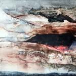 Creux no. 7—2010—Acrylique et encre sur papier marouflé sur toile—23 x 30 cm