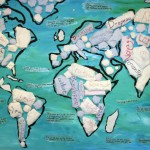 Le tour du monde en 80 jours—Projet résidence d'artiste à l'école—Élèves de 3e cycle (accueil)—École St-Jean-Baptiste-de-la-Salle, Montréal