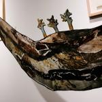 Corps/paysage no.8 (détail)—2012—Collagraphie, carborundum, monotype et chine collé et collage sur papier —66 x 173 cm
