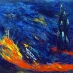 Baie des rochers—1992—Acrylique sur toile—113 x 144 cm